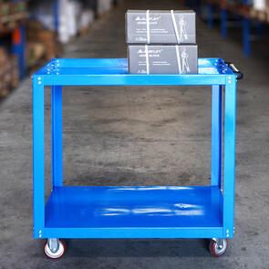 Hand trolley Flat bed type 2 levels 4 wheels SWL300kg
