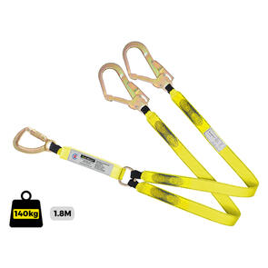 Lanyard Double webbing C/W Triple Action Hook and Steel Scaffold Hooks