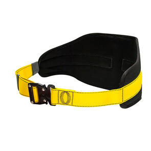 Waist Belt for working in Restraint. Quick connect buckle, rear D Ring, Back Pad