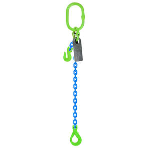 Grade 100 Chain Sling 10mm 1leg Effective Length C/W Clevis Type Grab Shortner And Clevis Self Locking Hook Tested