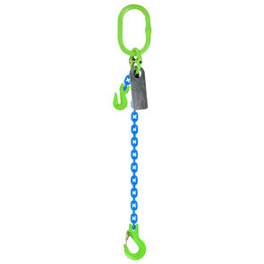 Grade 100 Chain Sling 8mm 1leg Effective Length C/W Clevis Type Grab Shortner And Clevis Sling Hook Tested