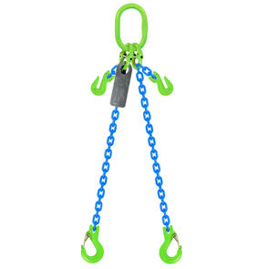 Grade 100 Chain Sling 6mm 2leg Effective Length C/W Clevis Type Grab Shortner And Clevis Sling Hook Tested