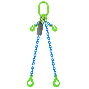 Grade 100 Chain Sling 6mm 2leg Effective Length C/W Clevis Type Grab Shortner And Clevis Self Locking Hook Tested