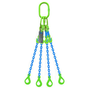 Grade 100 Chain Sling 8mm 4leg Effective Length C/W Clevis Type Grab Shortner And Clevis Self Locking Hook Tested