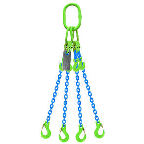 Grade 100 Chain Sling 8mm 4leg Effective Length C/W Clevis Type Grab Shortner And Clevis Sling Hook Tested