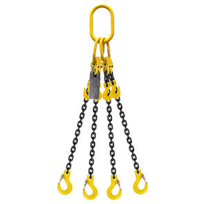 Grade 80 Chain Sling 8mm 4leg Effective Length C/W Clevis Type Grab Shortner And Clevis Sling Hook Tested
