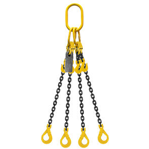 Grade 80 Chain Sling 7mm 4leg Effective Length C/W Clevis Type Grab Shortner And Clevis Self Locking Hook Tested