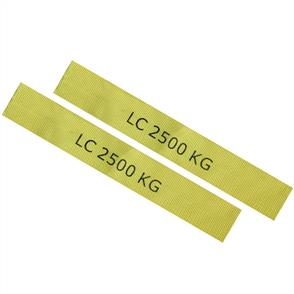 Protecting Yellow Sleeves for 300MM x50MMM for  RTD per pair ( Marked with LC 2500kg)