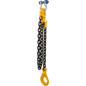 G80 10mm Chain x 1.5M C/W Clevis Self Locking Hook and Shackle