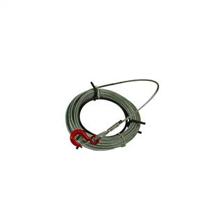 Cable for winch 6x25/16.4mm 20M with hook
