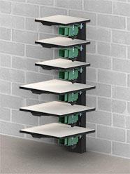 Vastex VP-Rack Wall Mounted Pallet Rack (add pallet mounts separately)