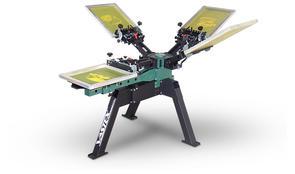 Vastex V-2000HD Industrial Screen Printer 1 Station 1 Color, FP, Rotary 4 Color Hub