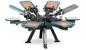 Vastex V-2000HD Industrial Screen Printer 6 Station 6 Color