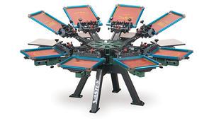 Vastex V-2000HD Industrial Screen Printer 8 Station 8 Color