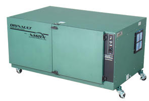 Vastex Wide 10/20 screen capacity Dri-Vault Screen Drying Cabinet with digital controller and (2) 1550W Heaters. Single phase