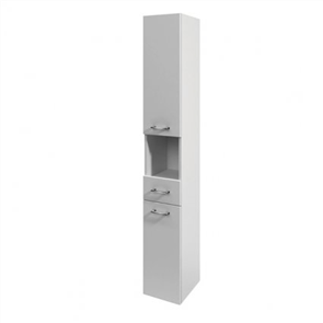 St Michel Azur  Tall Cabinet White