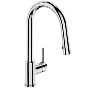 Elementi Uno Gooseneck Kitchen Mixer pull out spray