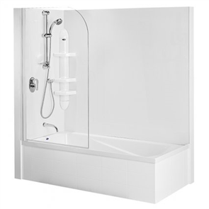 Englefield Duo II   Shower over Bath Combination 1670mm