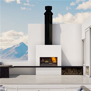 Escea Outdoor Kitchen Fireplace Wood EK1250