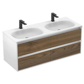 Plumbline Lavage Uno Double 4 Drawer Vanity