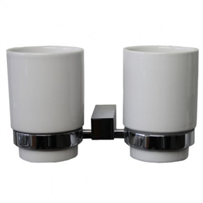 Yatin Rembrandt Ceramic Double Tumbler & Holder