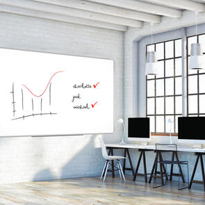 Boyd Visuals Magnetic Glass Writing Board White