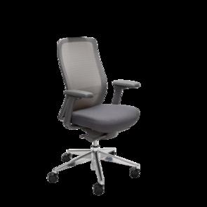Konfurb Luna Chair Aluminium Base With 2d Arms