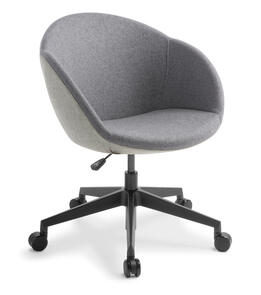 Eden Amelia 5-star Swivel Black Base Chair