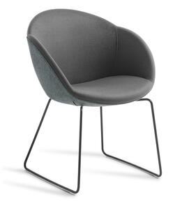 Eden Amelia Black Sled Base Chair