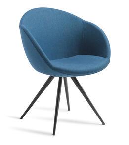 Eden Amelia Stork Black Base Chair