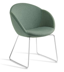 Eden Amelia Chrome Sled Base Chair