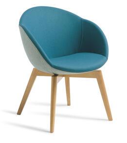 Eden Amelia Natural Beech Timber Base Chair