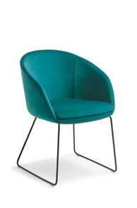 Eden Aria Black Sled Base Chair