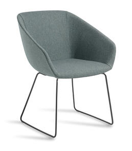 Eden Barker Black Sled Base Chair
