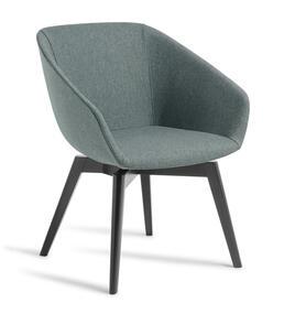 Eden Barker Black Timber Base Chair
