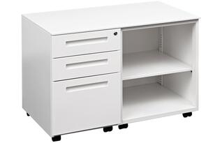 Clearance Mode Plus Caddy,2 x Standard , 1 x File Drawer Locking LHS, Open RHS