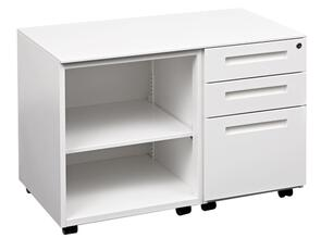 Clearance Mode Plus Caddy 2 x Standard,1 x File Drawer Locking RHS, open LHS