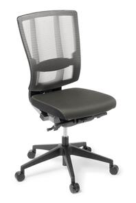 Eden Cloud Ergo Leather Chair Black Base