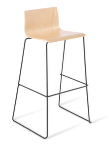 Eden Cruise Sled Black Frame Stool