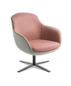 Eden Davina 4-point Black Base Chair