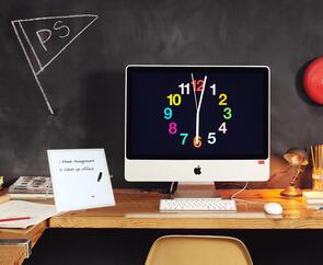 Boyd Visuals Desktop Whiteboard Lacquered Steel