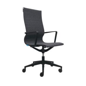 Buro Diablo High Back Grey Fabric Chair