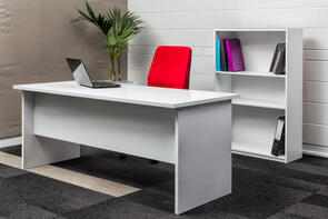 Eco Straight Desk White