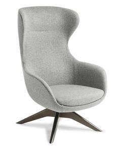 Eden Elizabeth Dark Walnut Timber Base Chair