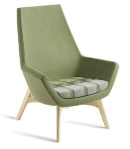 Eden Eton High Back Natural Ash Timber Base Chair