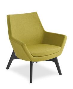 Eden Eton Mid Back Black Timber Base Chair