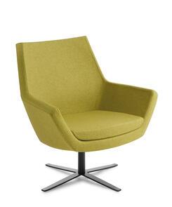 Eden Eton Mid Back 4-point Black Base Chair