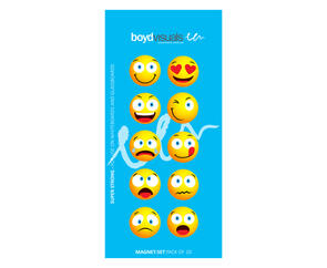 Boyd Visuals Glassboard Face Magnets 10pk