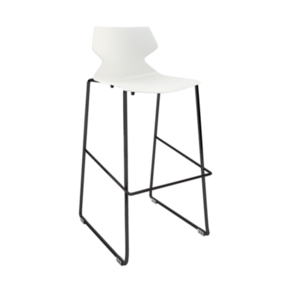 Konfurb Fly Sled Bar Stool Black Frame