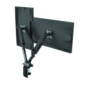 Gladius Double Monitor Arm Black